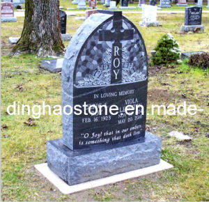 Upright Granite Headstone with Carving Cross (DH-T075)