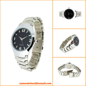 Round Tunsten Steel Watch for Men From Watch Manufacturer
