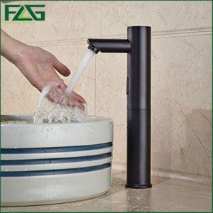 Flg Solid Brass Black Automatic Sensor Faucet Bathroom Basin Tap pictures & photos