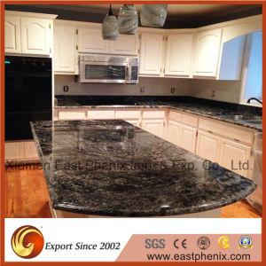 Elegant Black Polished Kitchen Worktops Granite Countertops pictures & photos