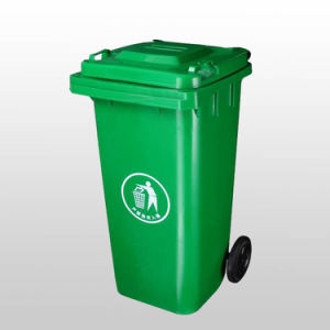 Plastic Dustbin with Two Pulley Bottom 100L pictures & photos