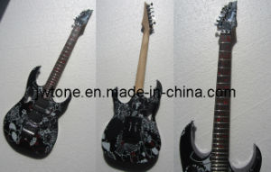 Special Pattern Stencil Plate Top Electric Guitar pictures & photos