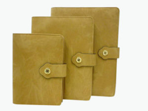 High Quality Yellow Colour Leather Notebook (YY-N0126) pictures & photos