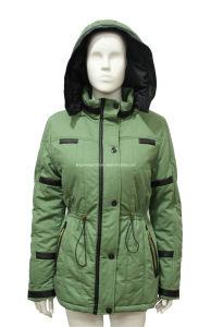 Womens Winter Fashion Washing PU Leather Mixed Jacket/Coat
