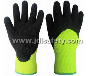 Hi-Viz Acrylic Work Glove with Latex 3/4 Coating (LY2037) (CE APPROVED) pictures & photos