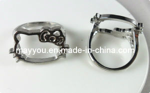 Fashion Jewelry-Hello Kitty Shaped Hollow Metal Ring