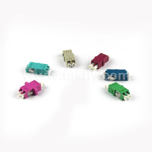 Duplex with Flange LC Fiber Optical Adapter pictures & photos