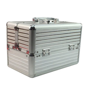 Beauty Silver Aluminium Make up Case with Trays pictures & photos