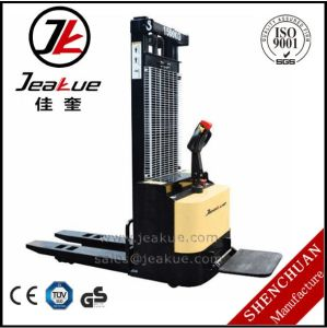 Best Sale Battery Stacker 3m Duplex Mast 1500kg Rider Electric Stacker pictures & photos