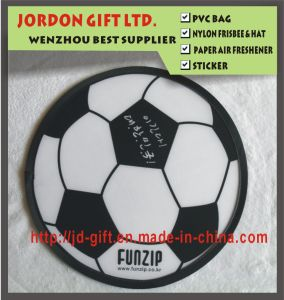 Round Foldable Frisbee in Football Printing pictures & photos