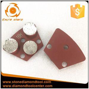 Three Round Segments Diamond Metal Trap Tools for Comcrete Floor pictures & photos