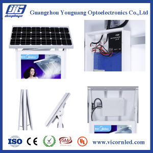 Double side Solar Powered LED Light Box pictures & photos