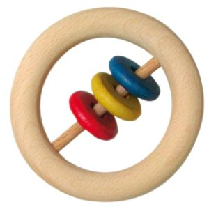 Wooden Rattle with Ring (WD1812)