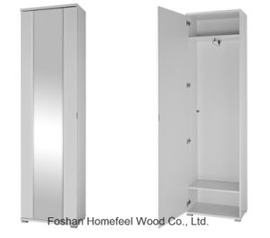 Wooden Melamine Single Door Mirrored Wardrobe Closet (WB03) pictures & photos