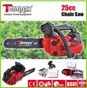 Hot sale single cylinder 2500 mini hand chain saw pictures & photos