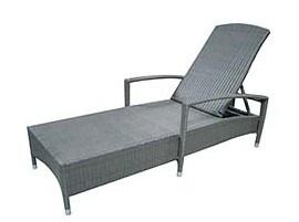Outdoor Garden Rattan Furniture Sun Lounger Orlando Black Wicker
