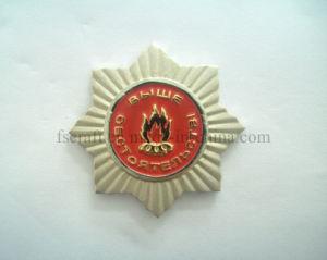 Matte Sandblasting Two Metal Plating Pin Badge