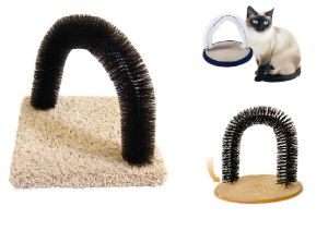 ... Purrfect Arch Self Groomer with Bag of Catnip, Cat Grooming Arch