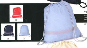 Promotional Canvas Linen Sling Drawstring Backpack Bag