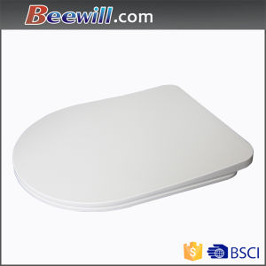 DIN19516 Standard D Shape Elongated Thin Urea Toilet Seat pictures & photos