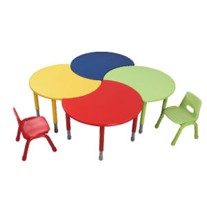 Colorful Wood Metal Adjustable Kids Table for Kindergarten pictures & photos
