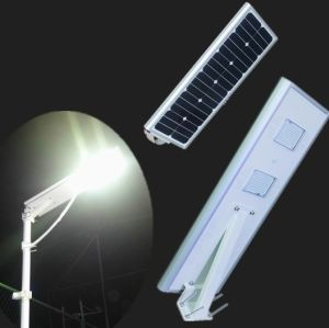 Integrated Solar Powered Light All in One Smart Solar Street Light with Motion Sensor for Solar Garden Lighting