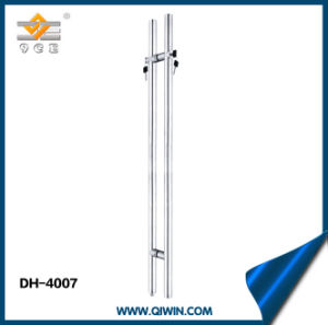 Stainless Steel 304 Glass Door Pull Handle with Lock (DH-4007) pictures & photos