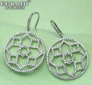 18k Gold Zirconia Earrings (EKDE0949Z)