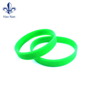 Factory Hot Sale OEM Style Custom Printing Silicon Wristband pictures & photos
