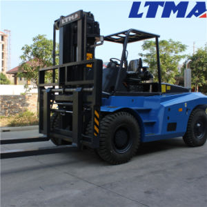 Ltma High Quality 10 Ton Diesel Forklift with Fork Positioner pictures & photos