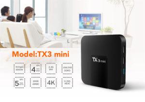 Amlogic S905W ] TV Box 4K Full HD Tx3 Mini 2GB 16GB Wholesale Android Smart TV Set Top Box pictures & photos