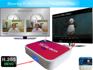 New Hottest Amlogic S912X 2.4G 5.8g WiFi IPTV Box pictures & photos