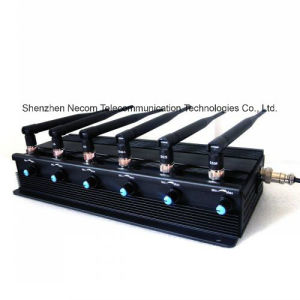 Adjustable Stationary 6bands Jammer, Blocker 3G/4G Ltecellphone, 433, 315 Car Remote Conotrol pictures & photos