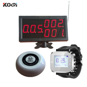 Top Popular New Arrival Remote Long Distance Range Wireless Watch Type Paging System pictures & photos