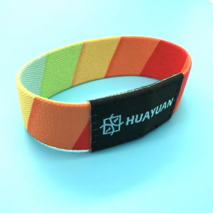 Music Festival MIFARE Classic 1K Reusable Fabric RFID Stretch Wristband pictures & photos