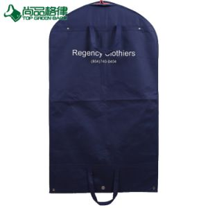Custom Foldable Suit Cover Clothing Bag Garment Bags with Snap Button pictures & photos