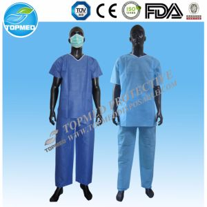 Disposable Nonwoven Operation Scrub Suit pictures & photos