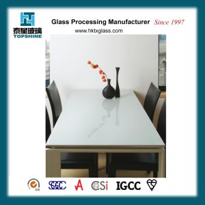 Popular Style Painted Glass Table Top for Dining Table pictures & photos