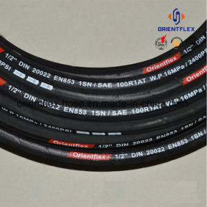 Rubber Hydraulic Hose Steel Wire Braid Oil Resistant Pipe pictures & photos