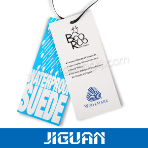 Paper Die Cut Cmyk Printing T-Shirt Hang Tag pictures & photos