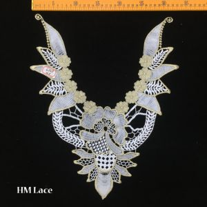 33*44cm Gold Lace Collar Trim, Double Edged Lace, Sewing Accessories with Olive Branch Hme959 pictures & photos