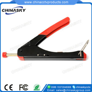 Universal CCTV System Coaxial Cable Stripper Tool (T5005) pictures & photos