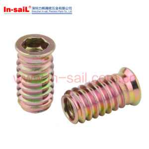 Steel Zinc Thread Inserts for Woodworking pictures & photos
