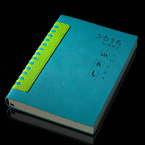 DIY Pocket PU Leather Hardcover MID Year Diary Journal for Advertising Gift pictures & photos
