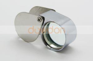 Wholesale Price Cheap 30 X 21mm Mini Silver Metal Pocket Magnifier 30X Magnifier pictures & photos