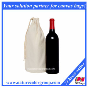 Drawstring Single Wine Bag Cotton Canvas pictures & photos