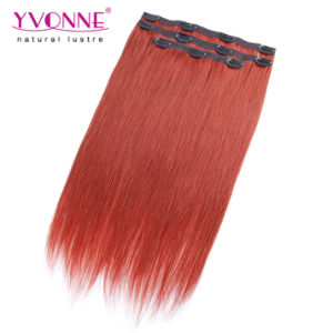 Brazilian Straight Remy Clip in Hair Extension pictures & photos