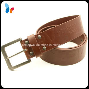 Design Fashion Solid Color PU Leather Strap Men Belts with Buckle pictures & photos