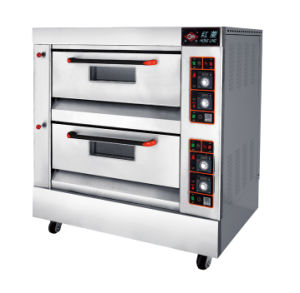 Bakery Equipment 1-Deck 2-Tray Gas Pizza Oven pictures & photos