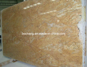 Solid Surface Kashmir Gold Granite Slab for Kitchen Countertop pictures & photos